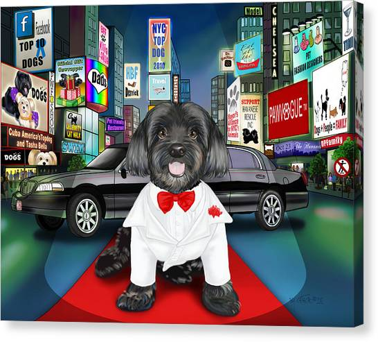 Sir Cuba Of Chelsea In Times Square Nyc Canvas Print