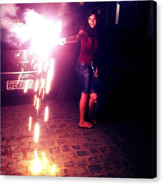 Fireworks Canvas Print -  #sãojoão #cool #firework #fun by Mayara Monteiro