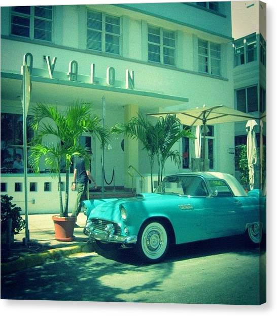 Ford Canvas Print -  #southbeach #florida #ford by Junior  Scholars