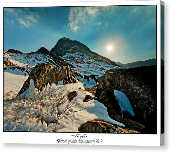 Spring Snows At Tryfan Canvas Print