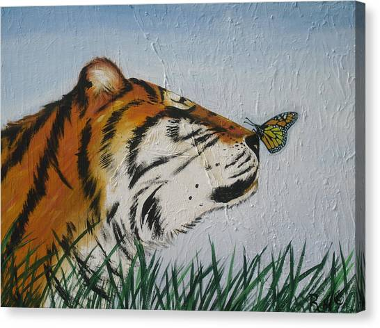 '' Tiger Colors'' Canvas Print by Mccormick  Arts