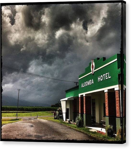 Pub Canvas Print - ... Tropical Downpour About To Engulf by Brian Cassey