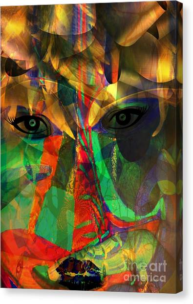 Viewing When Light Is On Canvas Print by Fania Simon