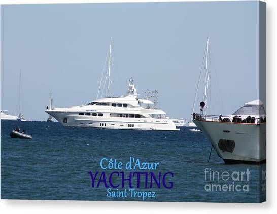 Yachting Canvas Print