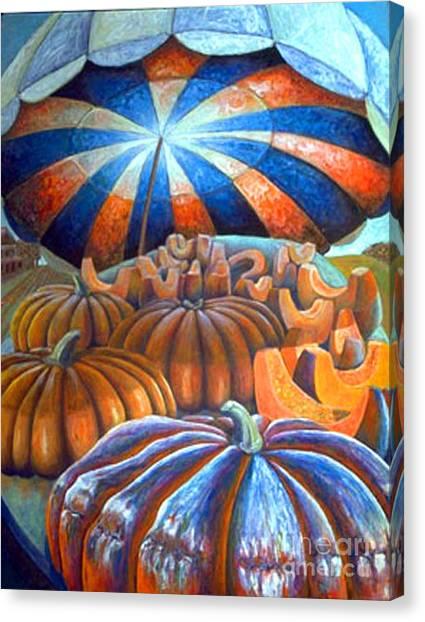 01014 Pumpkin Harvest Canvas Print