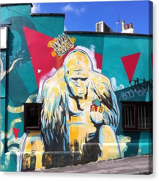 Apes Canvas Print - 01/07/12 #bristolgraffiti #bristol by Nigel Brown