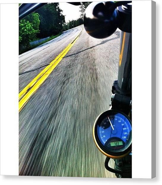 Harley Davidson Canvas Print -  by Omar Elsebai