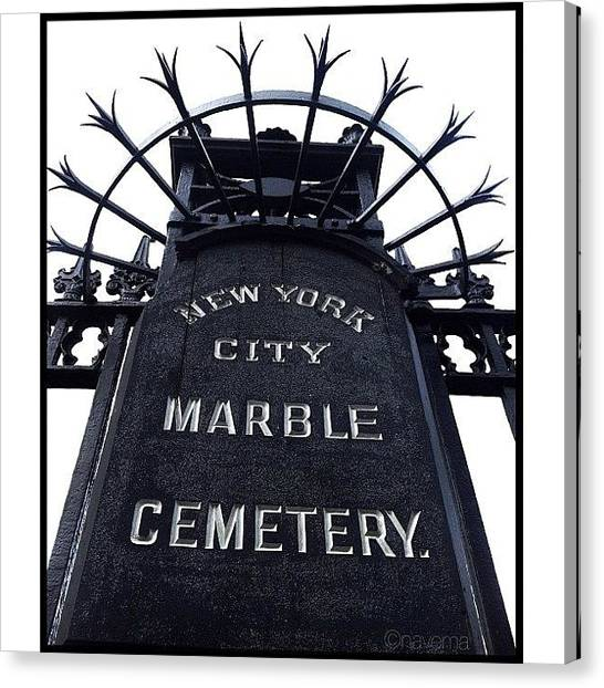 Minimalism Canvas Print - 1831 East Village Cemetery by Natasha Marco