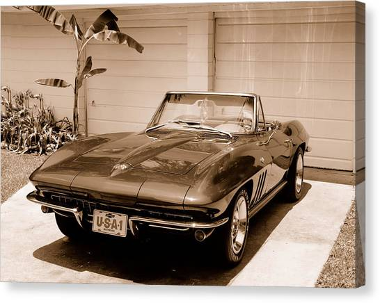 1965 Corvette Sting Ray Canvas Print by Kornel J Werner