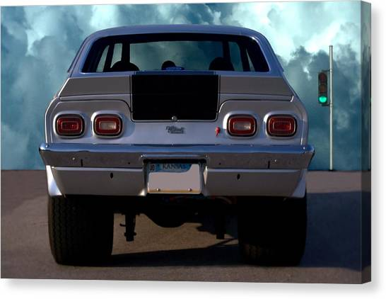 Stock Cars Canvas Print - 1973 Chevrolet Vega Pro Street Dragster by Tim McCullough