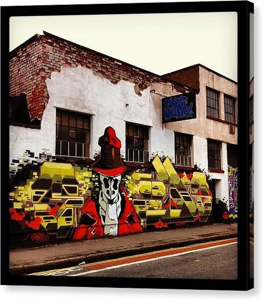 Skulls Canvas Print - 27/06/12#bristolgraffiti #bristolart by Nigel Brown