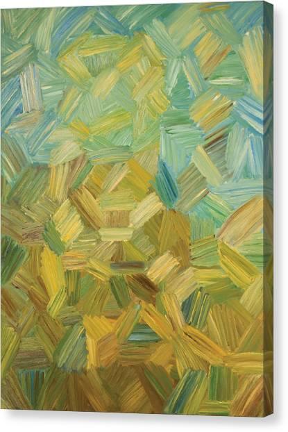 Jasper Johns Canvas Print - Abstract Chair by Julie Jesperson