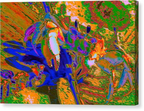Abstract Crab 2 Canvas Print