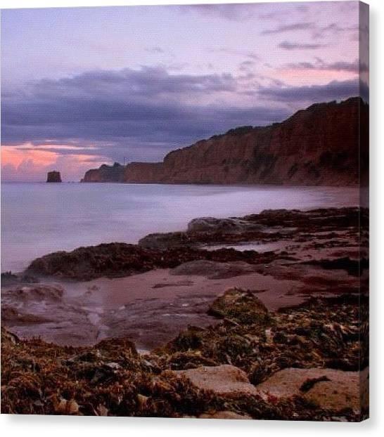 Beach Cliffs Canvas Print - Aeries Inlet by Susannah Mchugh
