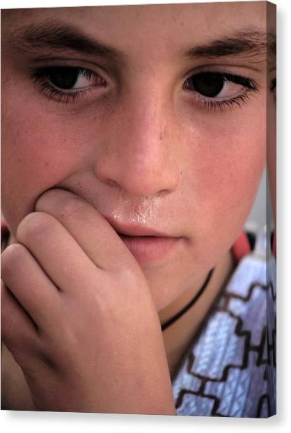 Afghan Child Canvas Print
