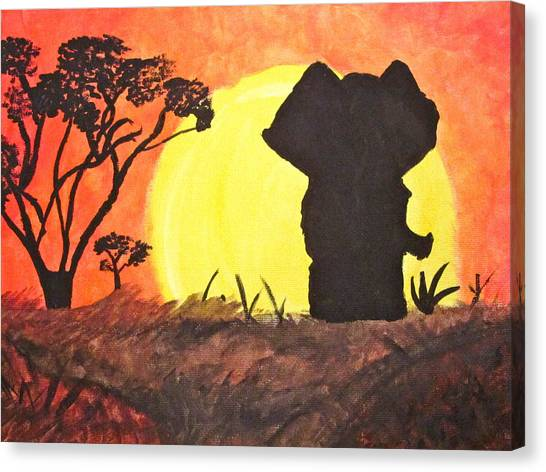 African Sunset Canvas Print by Hannah Stedman