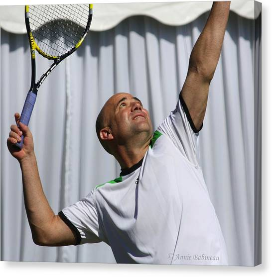 Andre Agassi Canvas Print - Agassi In Newport by Annie Babineau