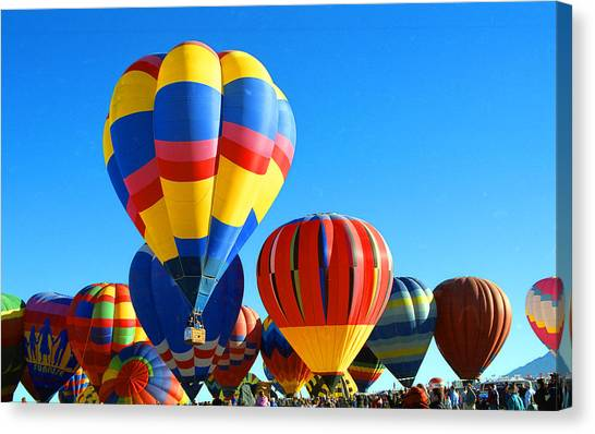 Albuquerque Balloons Canvas Print by Les Walker