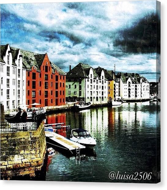 Travel Canvas Print - Alesund-norway by Luisa Azzolini