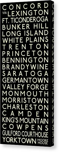 Delaware Valley Canvas Print - American Revolution by Chris Brown
