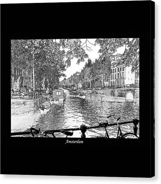 Social Canvas Print - #amsterdam #netherlands #holland by Brenden Mcdonough