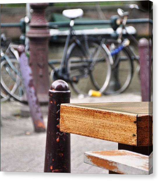 Social Canvas Print - #amsterdam #weed #joint #travel by Brenden Mcdonough