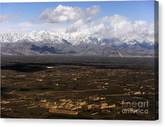 Hindu Kush Canvas Print - An Aerial View Over Afghanistan by Stocktrek Images