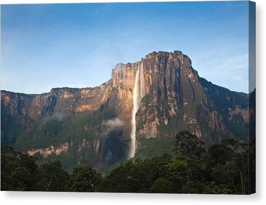 Angel Falls Canvas Print - Angel Falls by Jane Sweeney