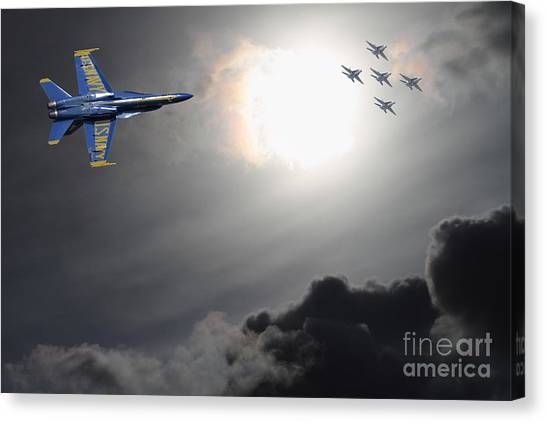 Angels In The Sky Canvas Print by Wingsdomain Art and Photography