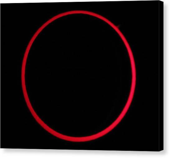 Annular Solar Eclipse Canvas Print by Laurent Laveder