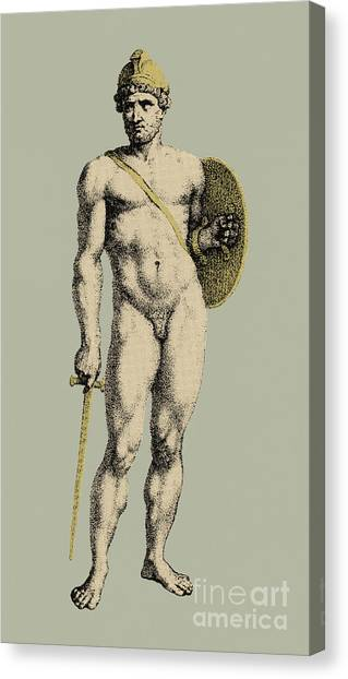 Warrior Goddess Canvas Print - Ares, Greek God Of War by Photo Researchers
