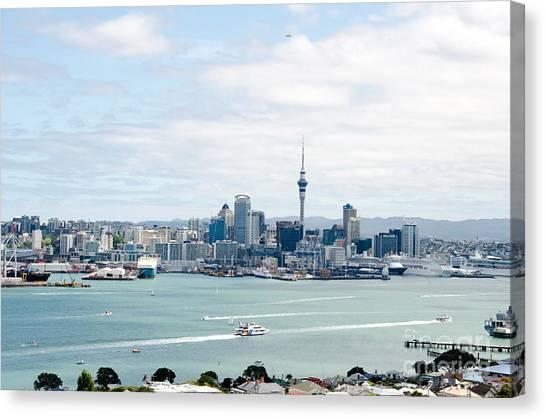 Auckland City New Zealand Canvas Print