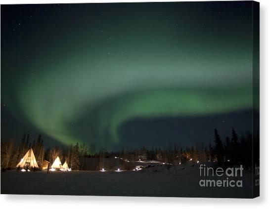 Northwest Territories Canvas Print - Aurora Above Aurora Village, Aurora by Yuichi Takasaka