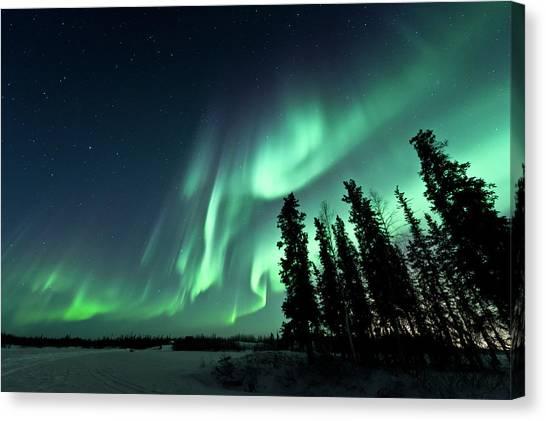 Northwest Territories Canvas Print - Aurora Borealis by Michael Ericsson