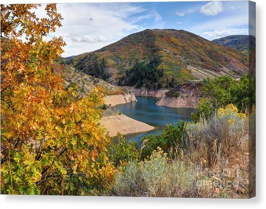 Autumn At Causey Reservoir - Utah Canvas Print