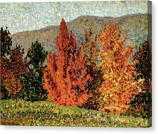 Pointillism Canvas Print - Autumn Landscape by Henri-Edmond Cross