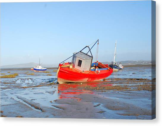 Canvas Print - Awaiting The Tide by Peter Jenkins