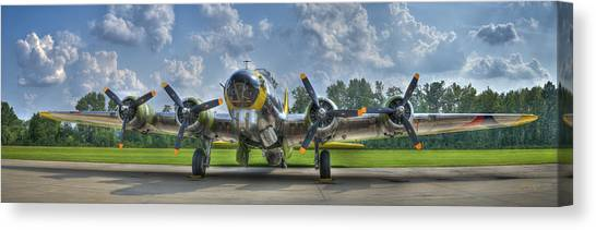 Canvas Print featuring the photograph B-17 by Williams-Cairns Photography LLC