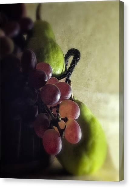Back Lit Grape Still Life Canvas Print by Andrew Soundarajan