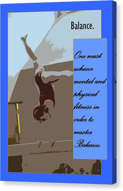 Balance Beam Canvas Print - Balance by Peter  McIntosh