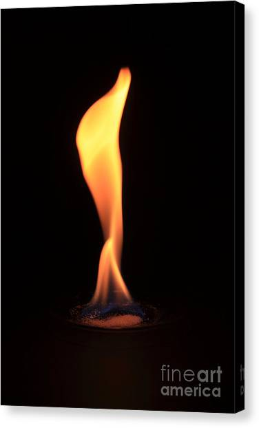 Flame Test Canvas Print - Barium Copperii Chloride Flame Test by Ted Kinsman