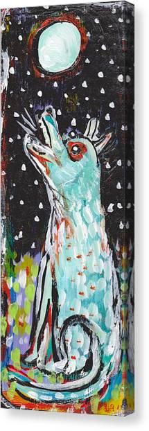 Bark At The Moon Canvas Print