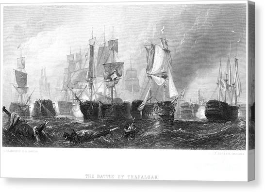 Drown Canvas Print - Battle Of Trafalgar, 1805 by Granger