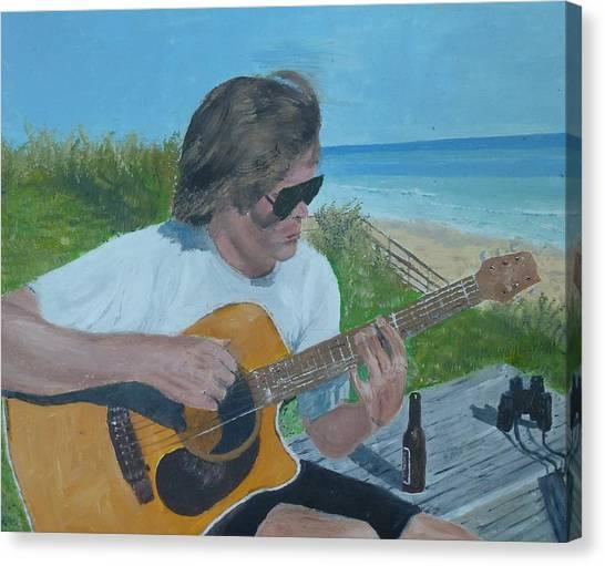 Beach Music Canvas Print by John Terry