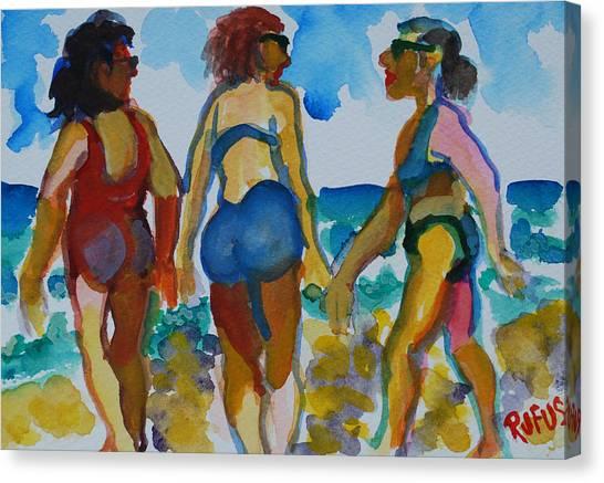 Canvas Print - Beach Trio by Rufus Norman