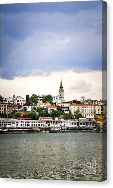 Danube Canvas Print - Belgrade Cityscape On Danube by Elena Elisseeva