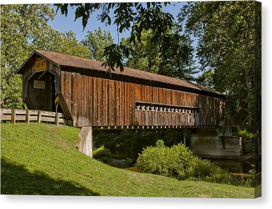 Benetka Road Covered Bridge Canvas Print