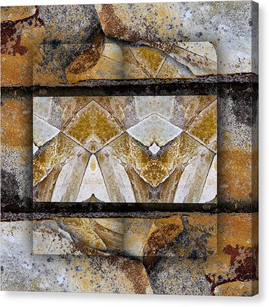 Geology Canvas Print - Between Tides Number 11 Square by Carol Leigh