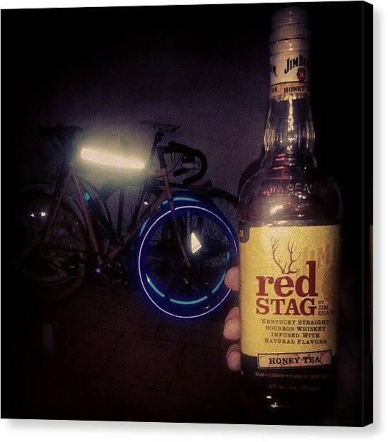 Reef Sharks Canvas Print - Bikes, Bourbon And #fiks Reflective by Wesley Shark