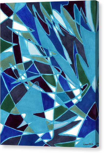 Blue Blaze Canvas Print